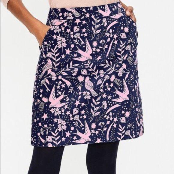 Boden Dresses & Skirts - *HP* Boden Mimi velvet skirt - navy/pink - size 6P